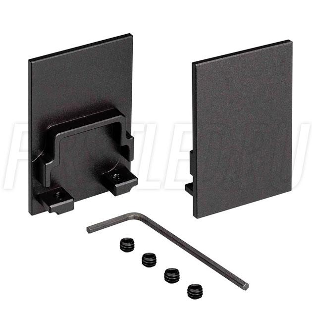 Заглушки черные глухие для светодиодного профиля TALUM HIDE WP35.51 BLACK