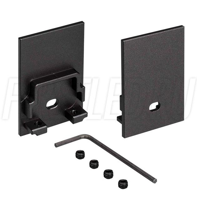 Заглушки черные с отверстием для светодиодного профиля TALUM HIDE WP35.51 BLACK