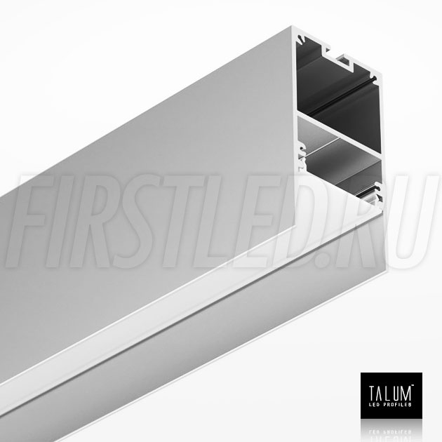 Накладной / подвесной алюминиевый профиль TALUM HIDE WP35.64 вместе с матовым рассеивателем