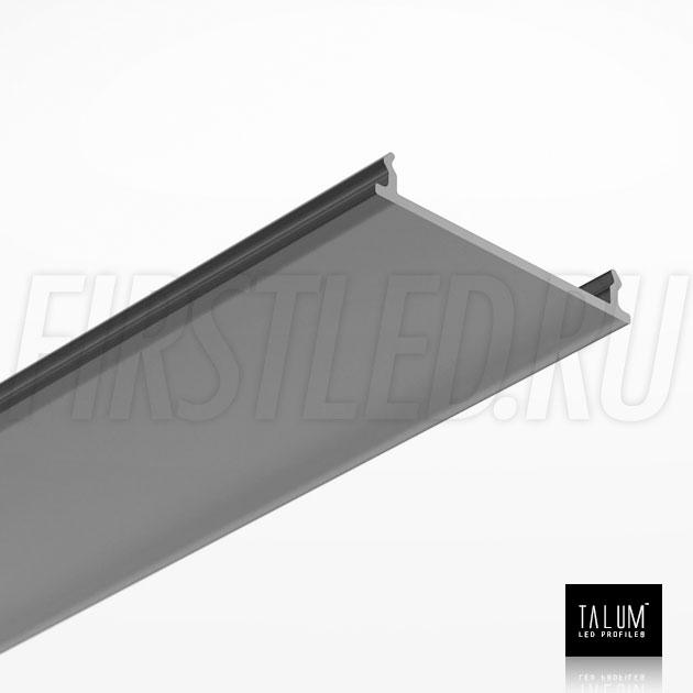 Черный матовый рассеиватель для светодиодного профиля TALUM HIDE WP35.64