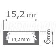Чертеж (схема) светодиодного алюминиевого профиля TALUM W15.6