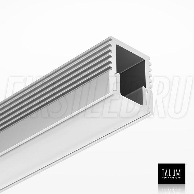 Накладной алюминиевый профиль TALUM W7.9 вместе с рассеивателем