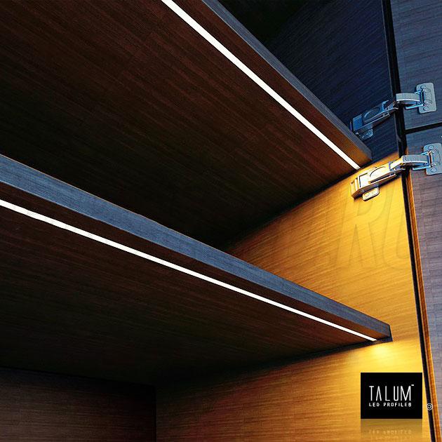 Врезной светодиодный алюминиевый профиль TALUM W7.9
