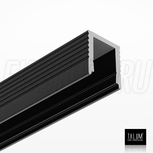 Накладной алюминиевый профиль TALUM W7.9 BLACK (черный)