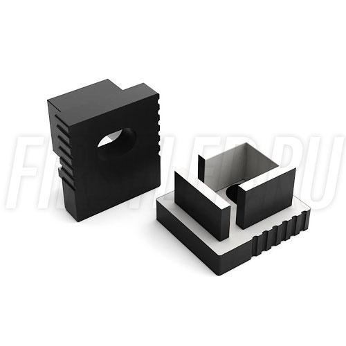 Заглушки черные с отверстием для светодиодного профиля TALUM W7.9 BLACK