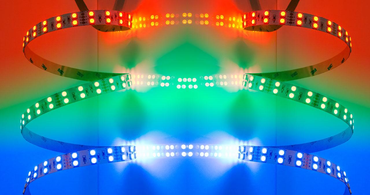 Многоцветная светодиодная лента RGB