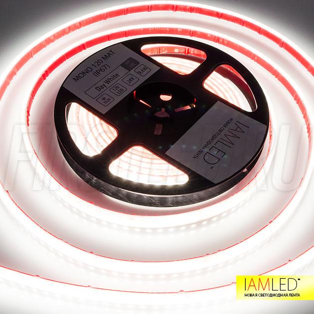 IAMLED MATTED MONO — матовая светодиодная лента которая снижает эффект видимости светодиодов например на глянцевых потолках в ванной комнате или сауне