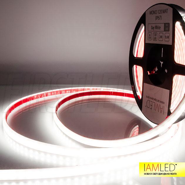 Матовая светодиодная лента WP SMD 3528 LED 120 24V IP67 MATTED