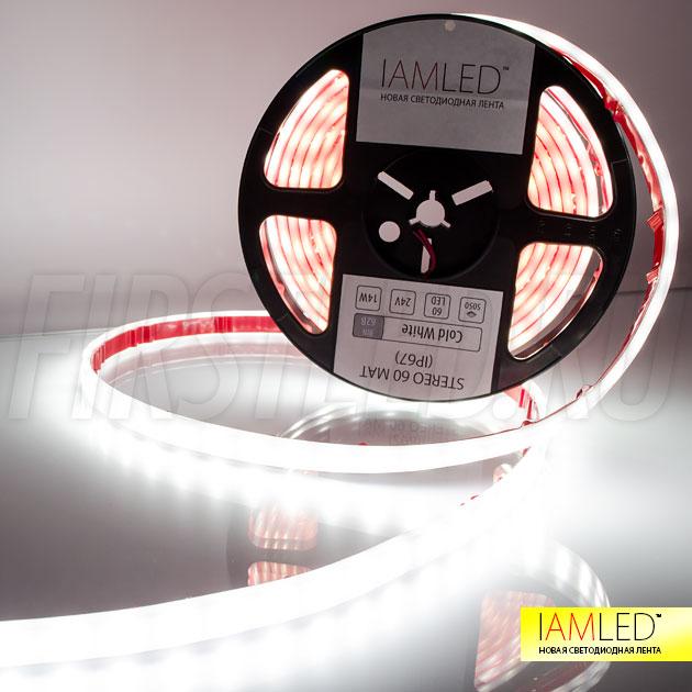 Светодиодная лента IAMLED STEREO 60 MATTED IP67 для подсветки натяжных потолков