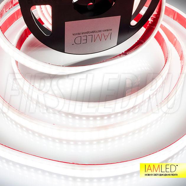 Высокая яркость матовой светодиодной ленты IAMLED MATTED SUPERB позволяет использовать ее при подсветке витражей