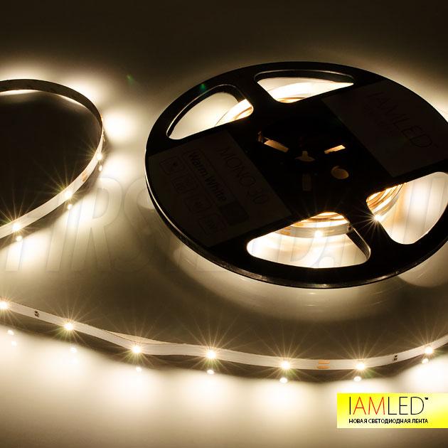 Благодаря нечастому расположению светодиодов и шириной ленты всего 8 миллиметров, можно легко изготовить декоративный светильник из алюминиевого профиля TALUM