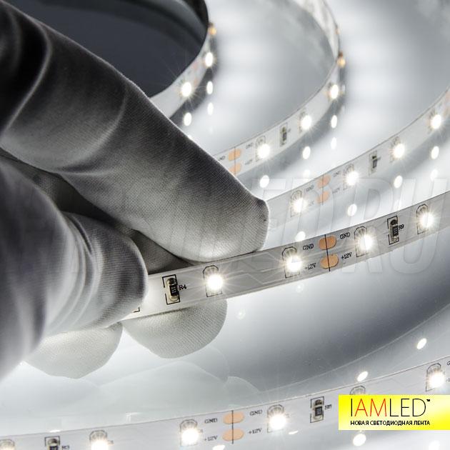 Благодаря скотчу 3M который нанесен на заднюю часть ленты IAMLED MONO 60 вы легко наклеите ее на нужную поверхность