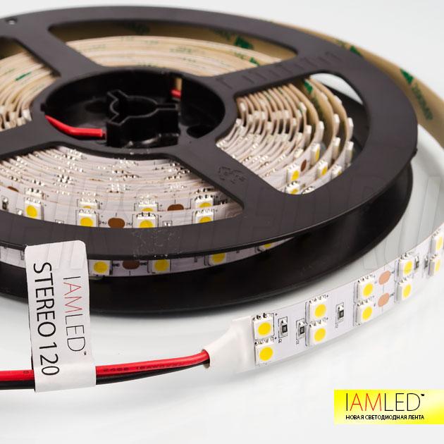 Одноцветная светодиодная лента IAMLED STEREO 120