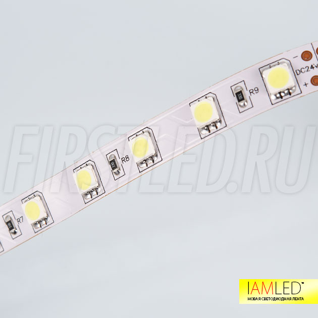 Светодиодная лента IAMLED STEREO 60 доступна на 12V или 24V, отличие только в кратности резки по 3 или 6 светодидов
