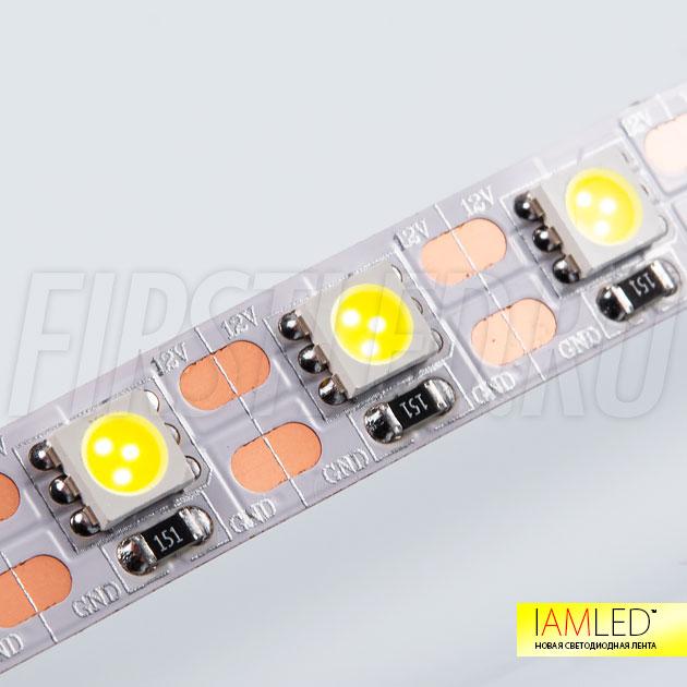 Уникальность светодиодной ленты IAMLED STEREO 72 в делении на отрезки по 14 мм или одному светодиоду