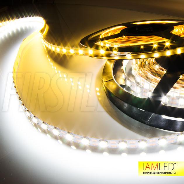 Одноцветная светодиодная лента IAMLED STEREO 72 работает от безопасного напряжения 12V и потребляет всего 17 Вт на 1 метр