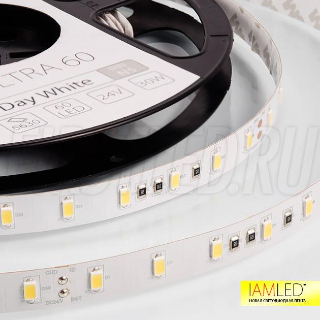 На светодиодной ленте IAMLED ULTRA 60 установлены специальные светодиоды SMD 5630