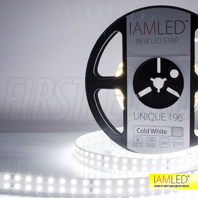 Светодиодная лента IAMLED UNIQUE 196 холодного белого свечения (6000 Кельвин)
