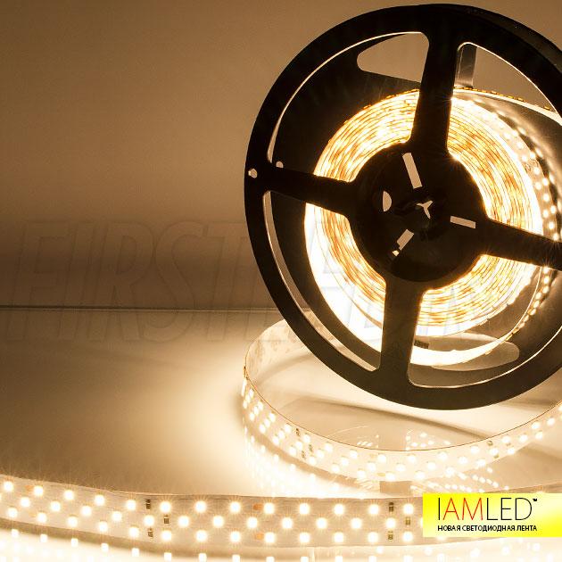 Яркость светодиодной ленты IAMLED UNIQUE 252 составляет до 3600 Люмен на 1 метр, что сопоставимо с основным освещением