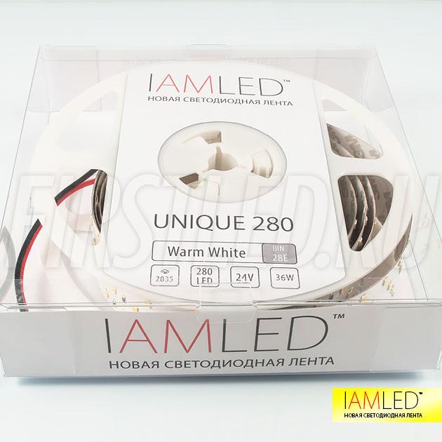 Стильная и современная упаковка для профессиональной светодиодной ленты IAMLED UNIQUE 280