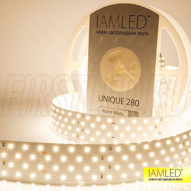 Профессиональная светодиодная лента IAMLED UNIQUE 280 поставляется в пяти оттенках белого: ультра холодный, холодный, дневной, теплый и ультра теплый