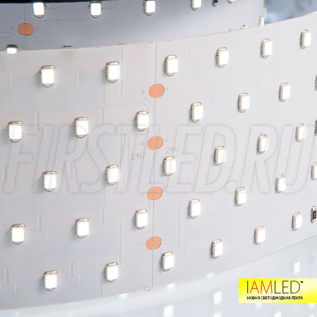 Светодиодная лента IAMLED UNIQUE PRO 350 24V с лучшим индексом цветопередачи CRI 94 Ra для жилых интерьеров