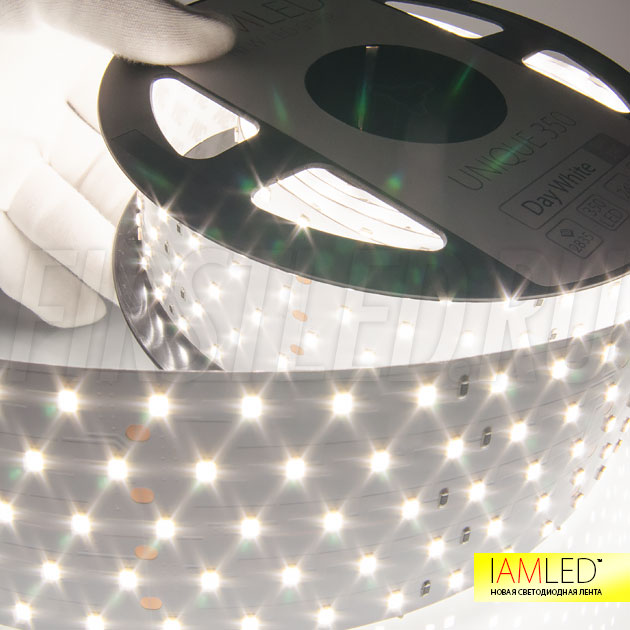 Светодиодная лента IAMLED UNIQUE 350 с дневным белым оттенком (3900 Кельвин)