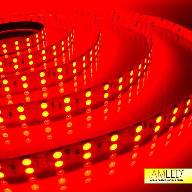 Красный оттенок многоцветной светодиодной ленты для основного освещения IAMLED RGB 120