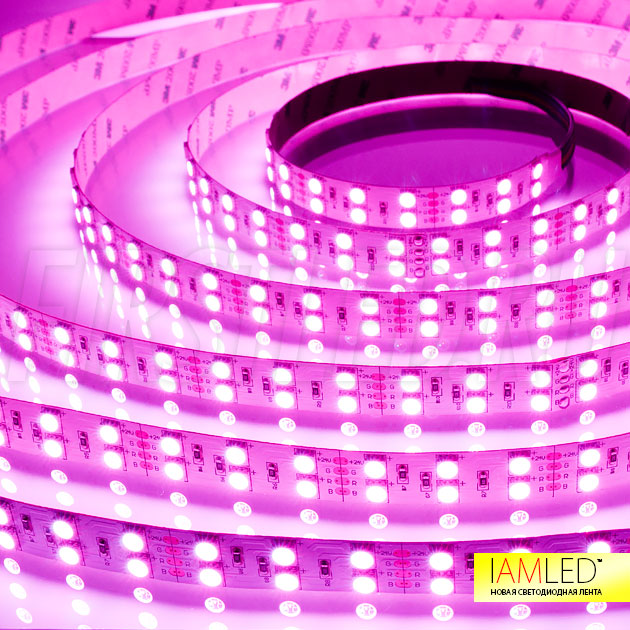 Многоцветная светодиодная лента IAMLED RGB 120 — розовый оттенок
