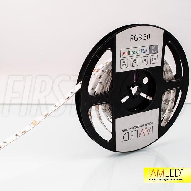 Многоцветная светодиодная лента IAMLED RGB 30 для декоративной подсветки