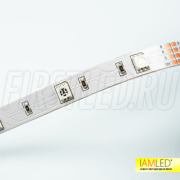 Светодиодная лента IAMLED RGB 30 — 30 светодиодов на 1 метр для декоративной подсветки