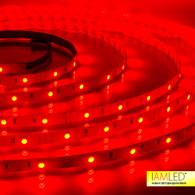 Многоцветная светодиодная лента IAMLED RGB 30: красный оттенок