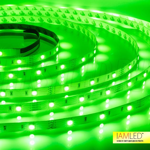 Многоцветная светодиодная лента IAMLED RGB 30: зеленый оттенок