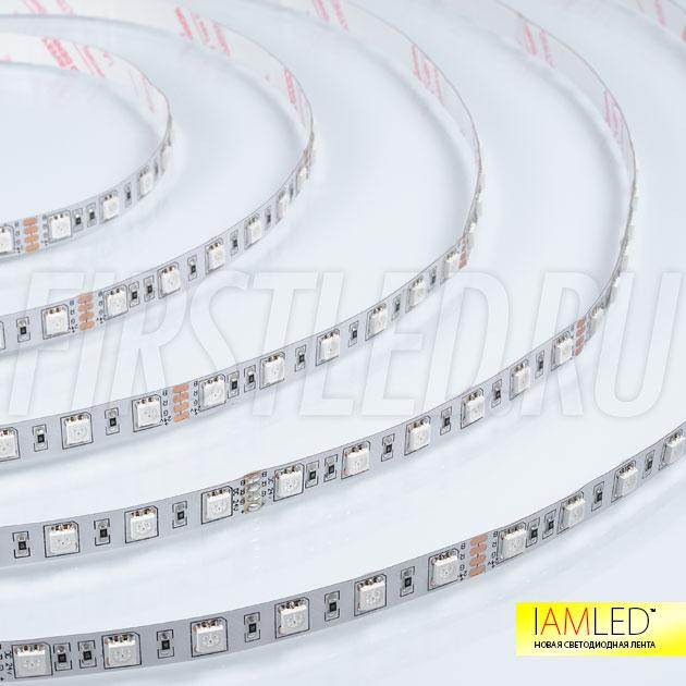 60 светодиодов на 1 метр — Многоцветная светодиодная лента IAMLED RGB 60