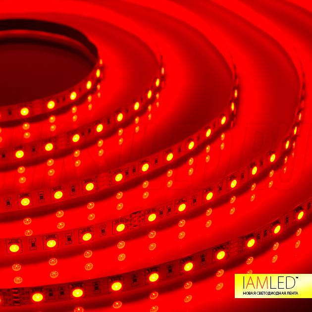 Многоцветная светодиодная лента IAMLED RGB 60 (красный оттенок)