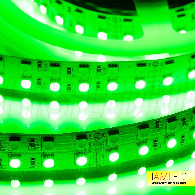 Двухрядная светодиодная лента IAMLED RGB WHITE 144 (RGBW) — RGB ряд, зеленый цвет