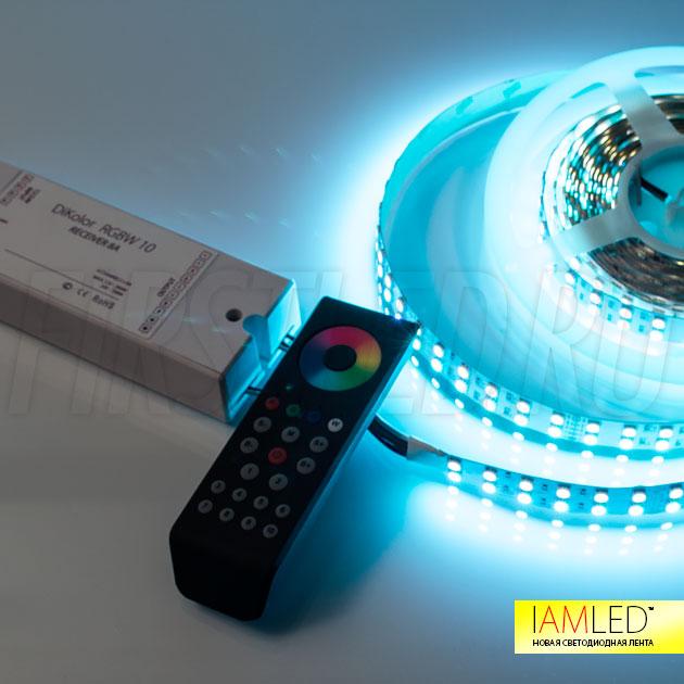 Для управления лентой IAMLED RGB WHITE 144 применяется 4-х канальный светодиодный контроллер DiKolor RGBW 10
