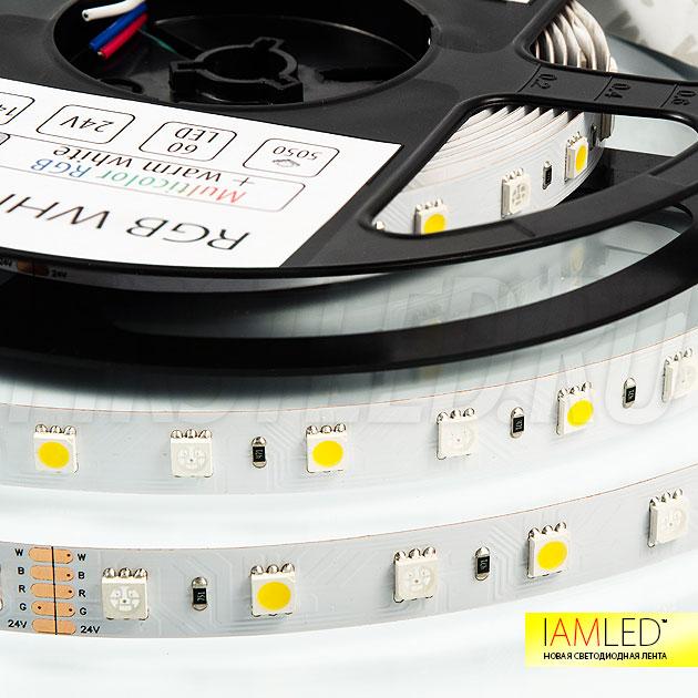 60 светодиодов на 1 метр — RGB+Белый, светодиодная лента IAMLED RGB WHITE 60