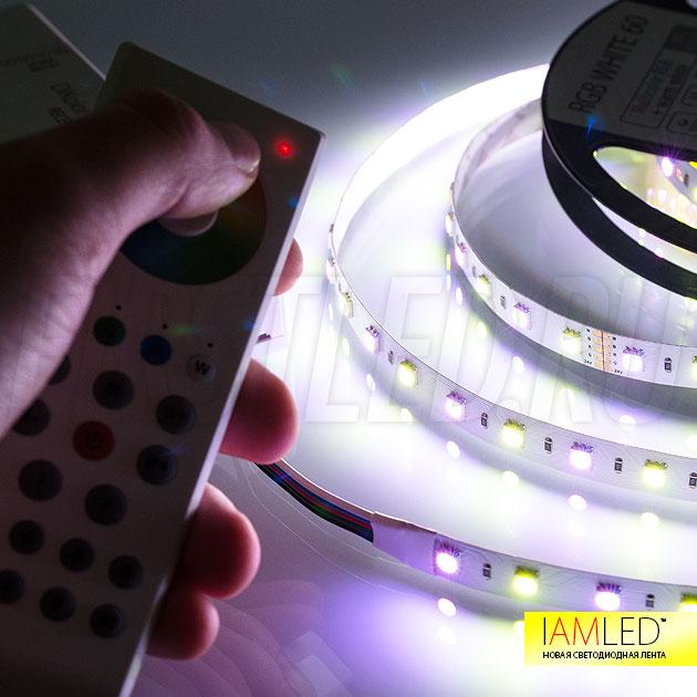 Выбор цвета с помощью пульта управления DiKolor RGBW 8