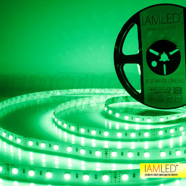 Зеленый оттенок ленты IAMLED RGB WHITE ONE 60