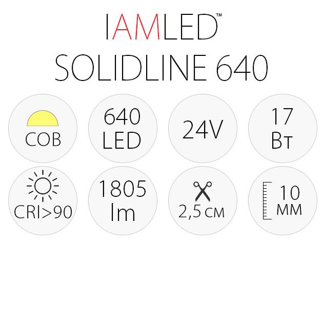 Светодиодная лента IAMLED SOLIDLINE 640, характеристики