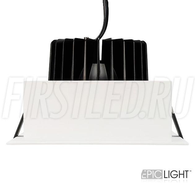 Встраиваемый светодиодный светильник карданного типа KARDAN 25W (152mm) для установки в отверстие 140×140мм