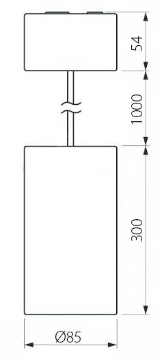 Чертеж (схема) подвесного светодиодного светильника POLONIUM SL 15W