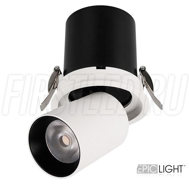 Встраиваемый светодиодный светильник с поворотно-выдвижным механизмом PULL R 10W