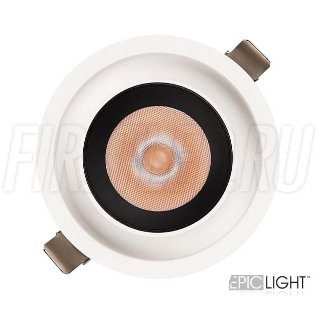 Встраиваемый светодиодный светильник PULL R 10W с круглой рамкой
