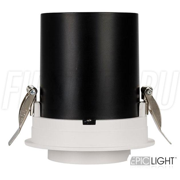 Встраиваемый светодиодный светильник с круглой рамкой и выдвижным механизмом PULL R 10W