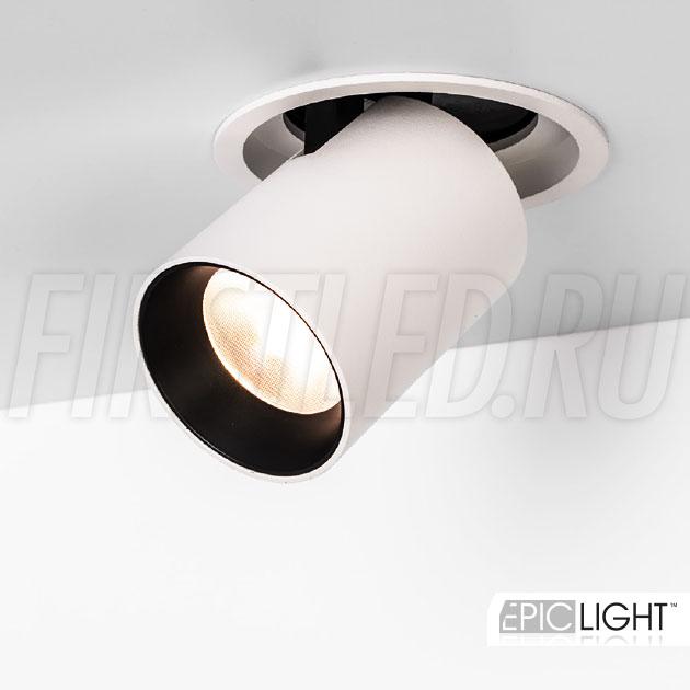 Встраиваемый светодиодный светильник с круглой рамкой и выдвижным механизмом PULL R 10W (LOCUS BOX)