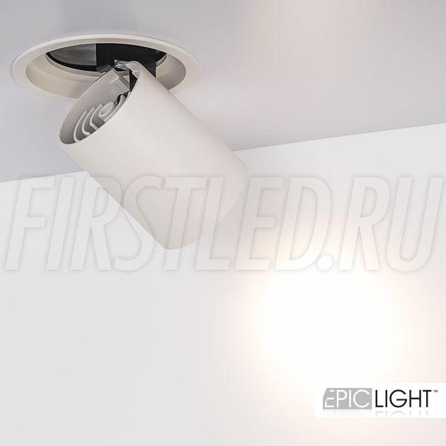 Встраиваемый светодиодный светильник с направленным поворотным модулем PULL R 10W (LOCUS BOX)