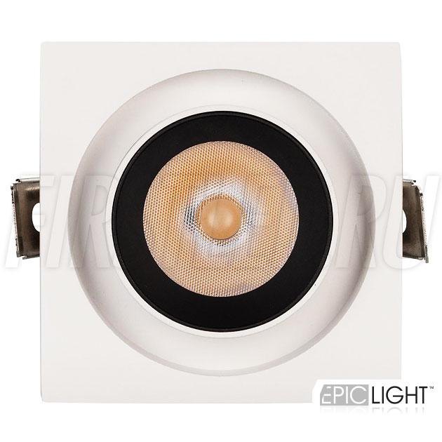 Встраиваемый светодиодный светильник PULL S 10W с квадратной рамкой