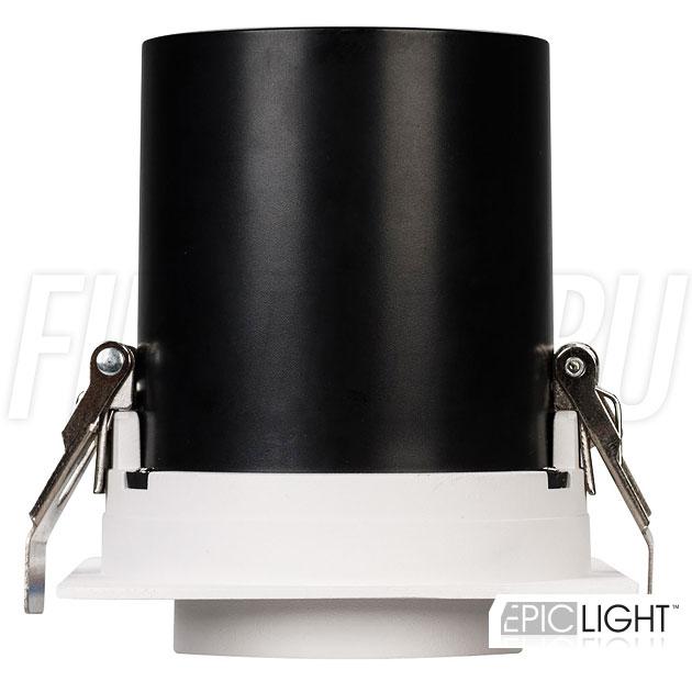 Встраиваемый светодиодный светильник с квадратной рамкой и выдвижным механизмом PULL S 10W